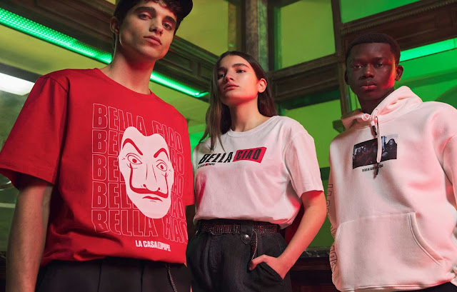 camisetas-la-casa-de-papel-pull-and-bear