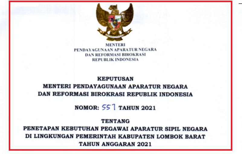gambar formasi cpns 2021 lombok barat