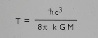 Temperatura de un agujero negro