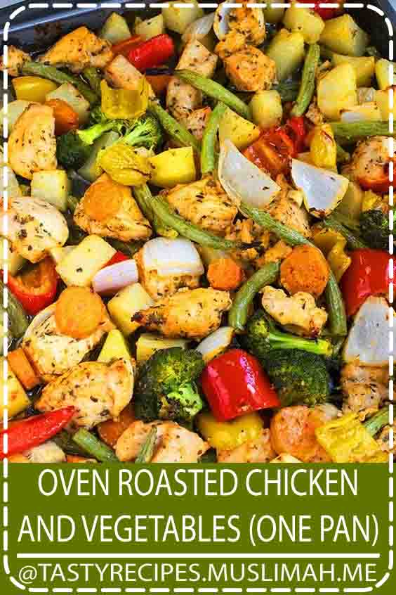 The best, healthy, quick and easy oven roasted chicken and vegetables recipe, homemade with simple ingredients in sheet pan/ one pan in 30 minutes. Loaded with Italian flavors!