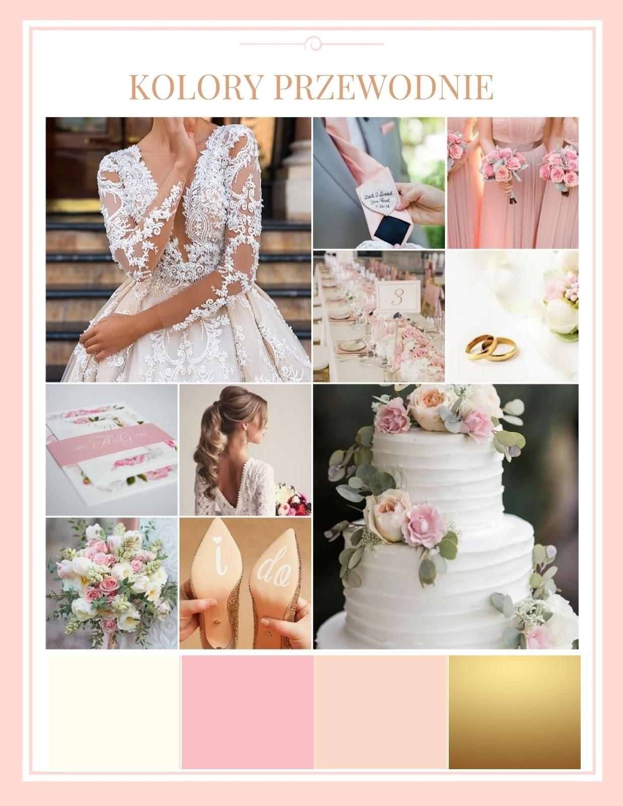 Kolory Przewodnie Wesela Pudrowy Róż Złoto I Nude Wedding