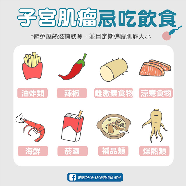 子宮肌瘤飲食禁忌食物