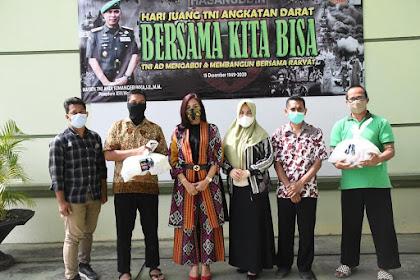 115 Paket Sembako Pangdam XIV/Hsn Untuk Guru Yayasan SMA Kartika Jaya Cabang XX Hasanuddin.