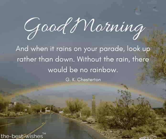 good morning rain pictures with rainbow