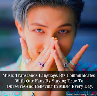 music transcends language bts