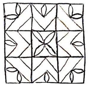 free motion quilting design found on AQS Blog Sept, 2017