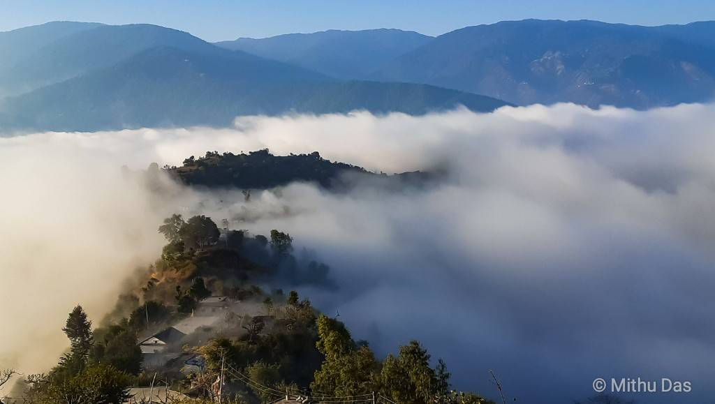 Silgadhi shrouded by mist