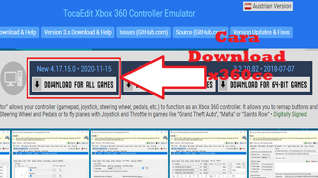 Cara Download x360ce