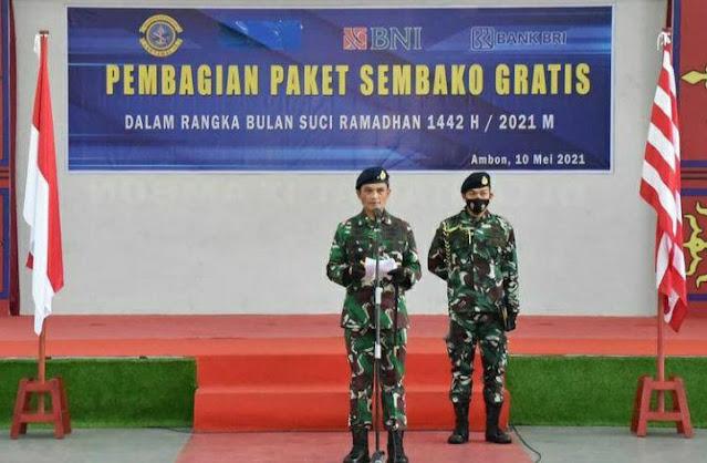 Eko Jokowiyono Lakukan Sembako Gratis di Lantamal IX