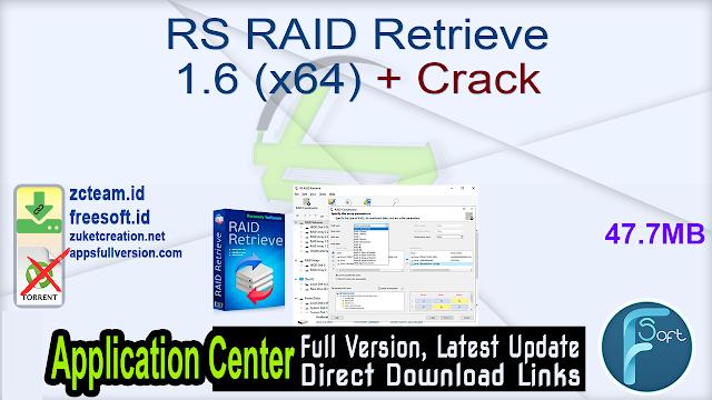 RS RAID Retrieve 1.6 (x64) + Crack_ ZcTeam.id