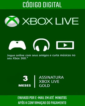 Xbox Live Gold Brasileira 3 Meses de Assinatura