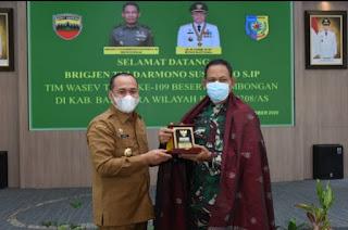 Bupati Batu Bara Terima Kunjungan Silaturahmi Tim Wasev TMMD Ke- 109