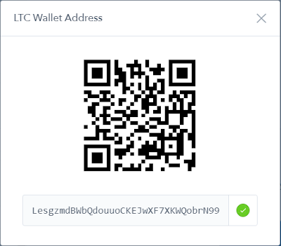 Litecoin Wallet address created in Coinbase