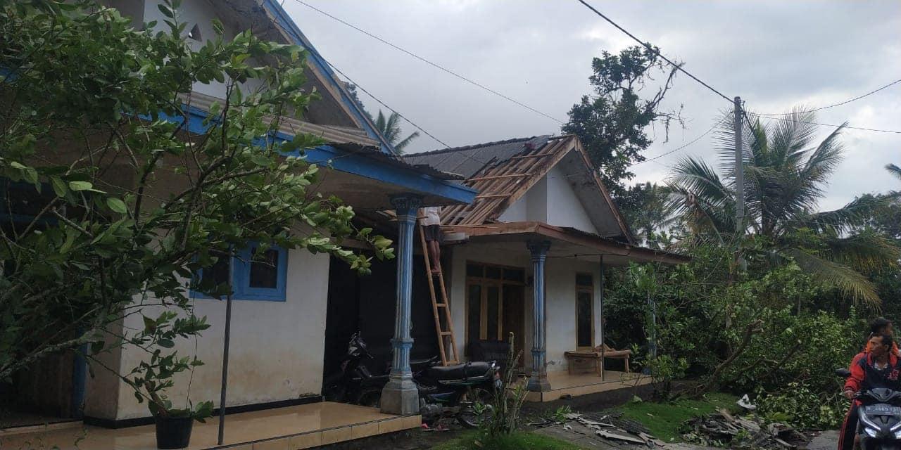 BPBD Laporkan Ada 116 Rumah Rusak Diterjang Puting Beliung