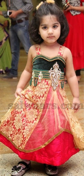 290b5e116c Baby in Velvet and Brasso Frock - Indian Dresses