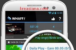 Cara Dapat Uang dari Android Dengan Whaff Rewards