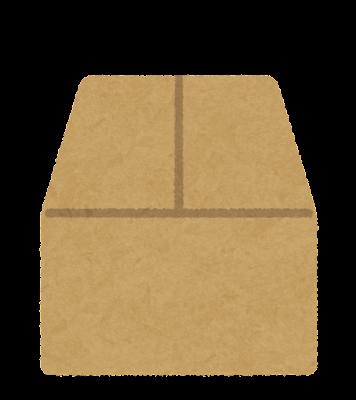 フタの閉じていない箱のイラスト