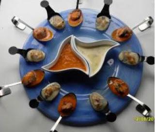 Bombones de mejillones,almejas y berberechos thermomix