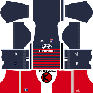 Olympique Lyonnais Kits 2017/2018 - Dream League Soccer