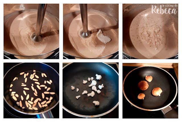 Receta de crema de coliflor y setas asadas: la guarnición