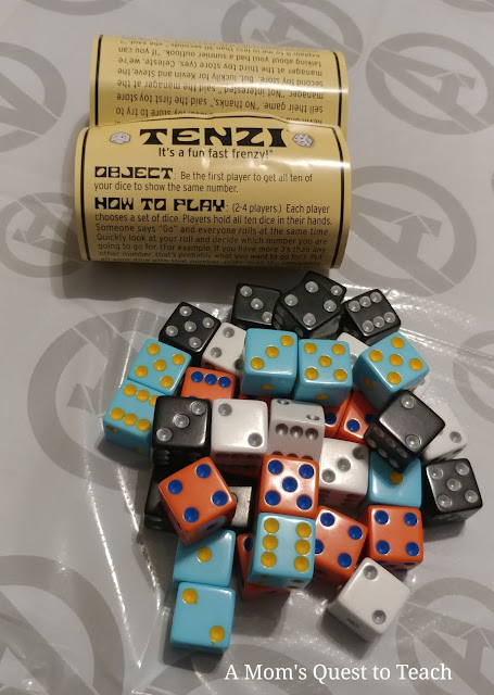 Tenzi game rules; Tenzi dice