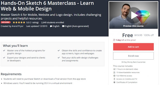 [100% Off] Hands-On Sketch 6 Masterclass - Learn Web & Mobile Design| Worth 19,99$