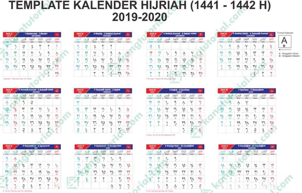 Download Kalender Islam 1441 Hijriyah Tahun 2019/2020 ...