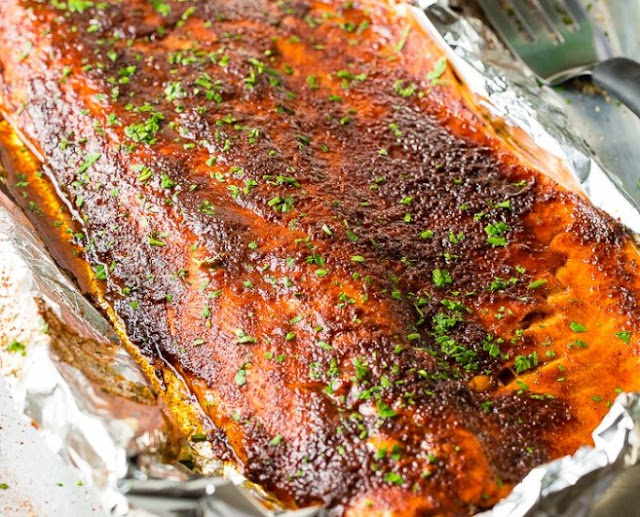 The Best 5 Ingredient Baked Salmon #dinner #seafod