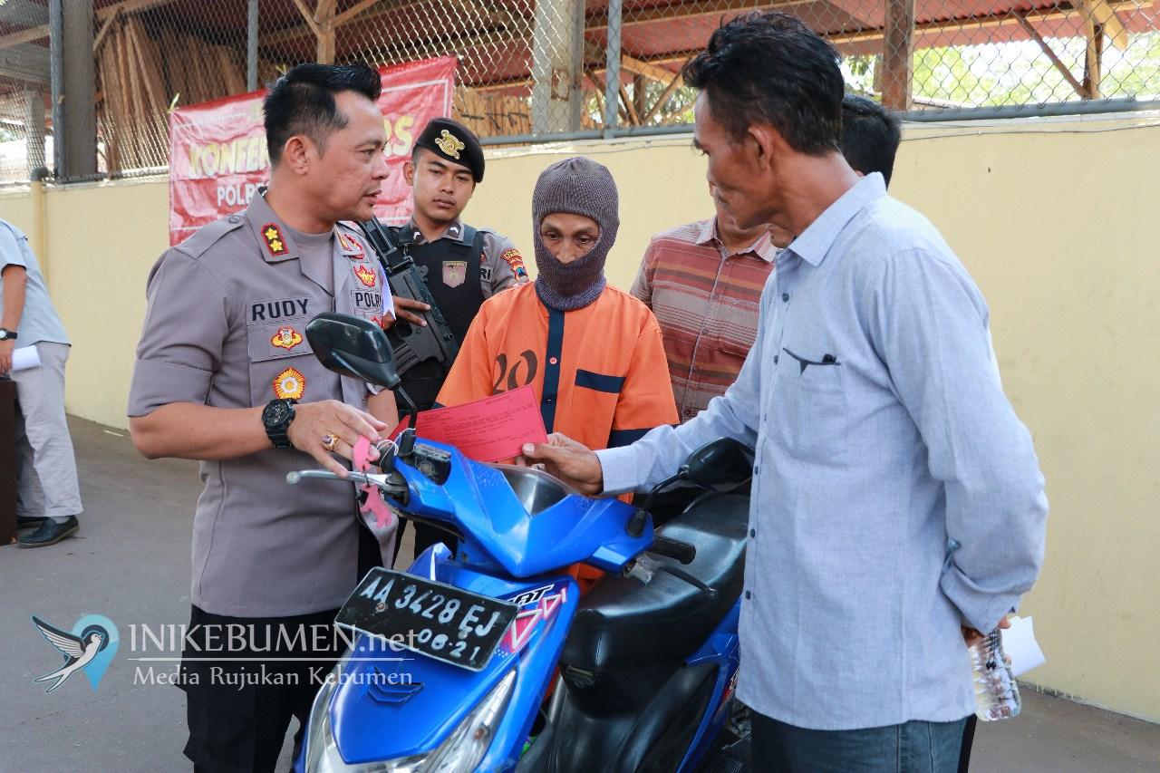 Curi Motor di Masjid, Pria Asal Karanggayam ini Ditangkap Polisi