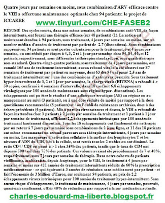 ICCARRE FASEB Leibowitch traduction article ANRS Perronne de Truchis Dominique Mathez Garches