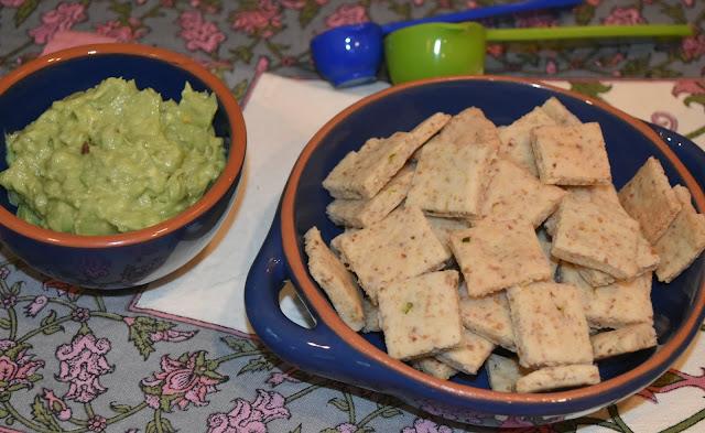 Almond Jalapeño Crackers- with Guacamole- Great crispy snack