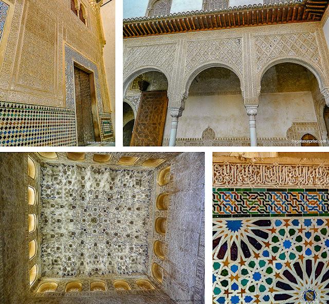 Decoração dos Palácios Násridas da Alhambra