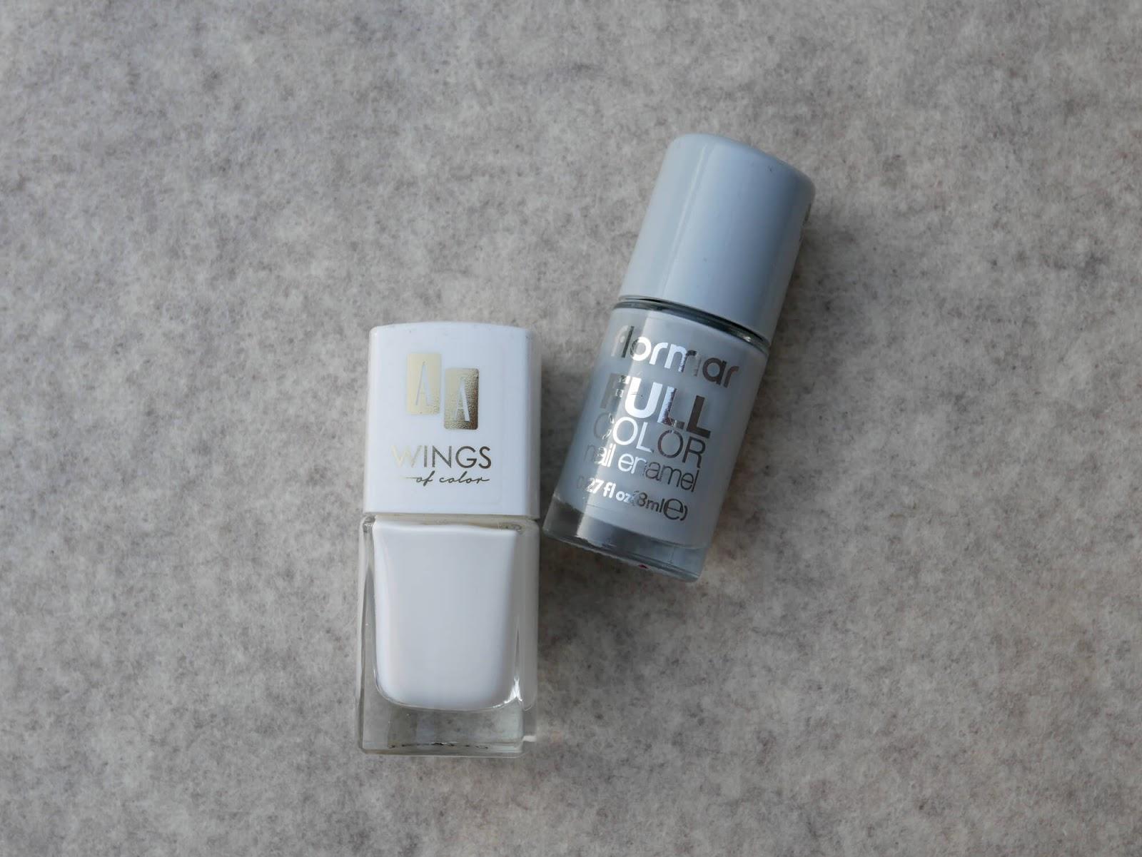 biały i szary lakier
