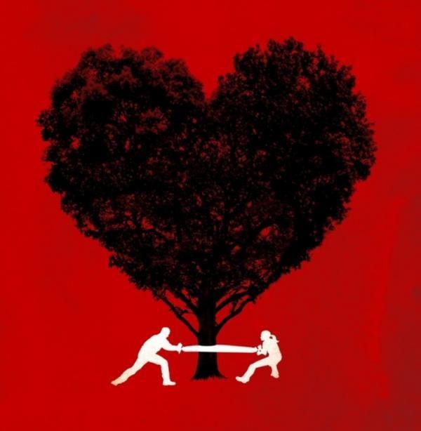 Ilustración de amor para camiseta
