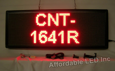 Shop Red Indoor Programmable Scrolling Sign at Affordable LED