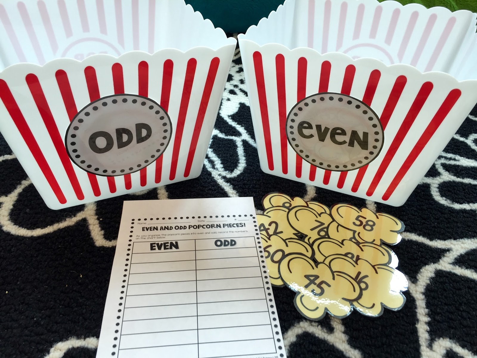 Pocketful Of Primary Carnival Themed Math Centers