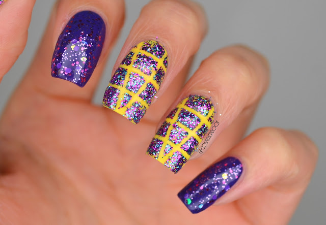 Sinful Colors Glitter Taping Nail Art