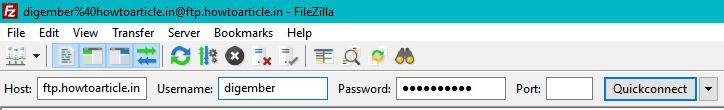 ftp account filezilla