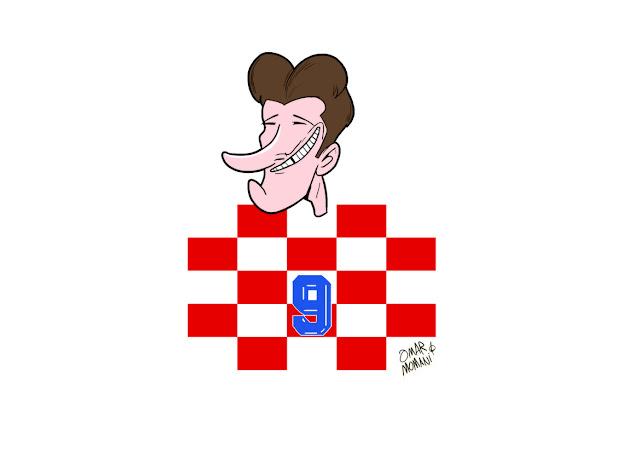 Davor Suker cartoon caricature