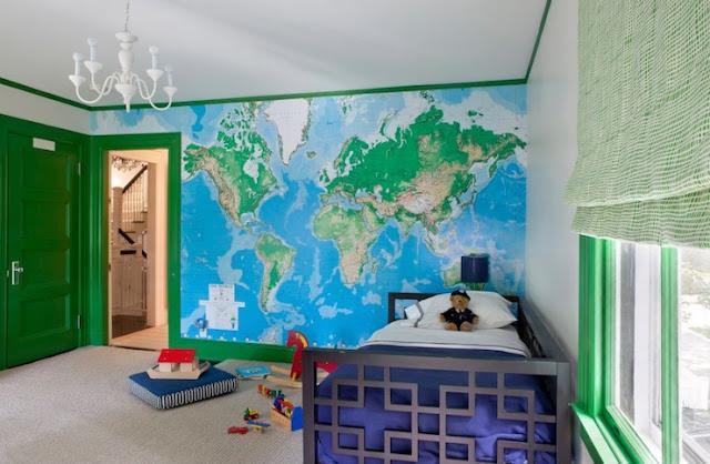 maailmankartta tapetti Lasten