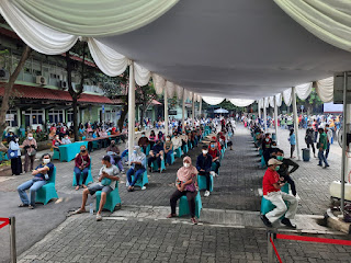 Direktorat Binmas Polda Metro Jaya bersinergi dg Kampus UPN Veteran dalam upaya percepatan Vaksinasi Presisi.