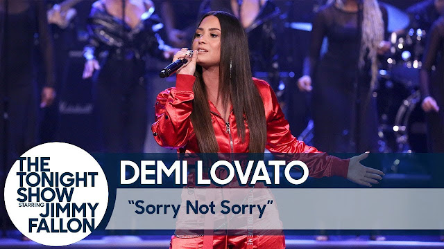 "Demi Lovato Performs ""Sorry Not Sorry"" On Tonight Show"