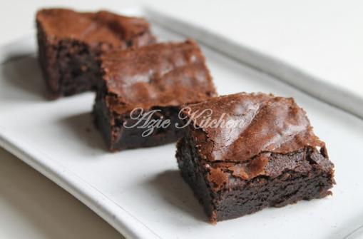 Resipi Brownies Kedut Simple Sukatan Cawan