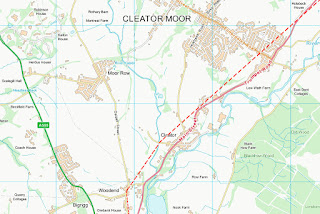 Estimated Route Of Cleator Moor Roman Road