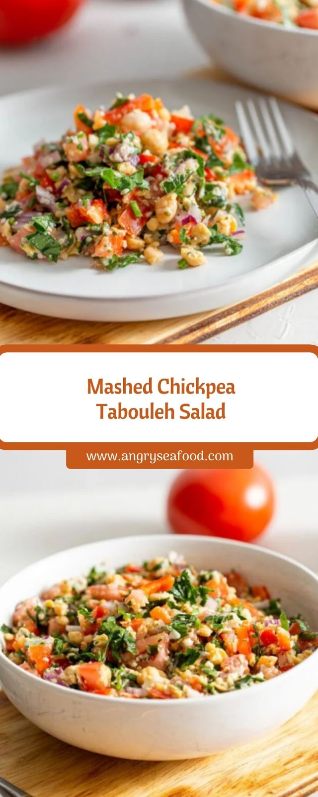 Mashed Chickpea Tabouleh Salad