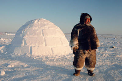 Eskimo and igloo