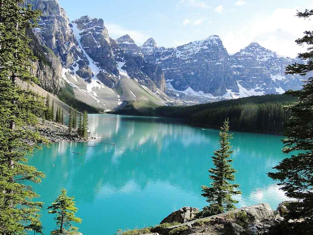 Lago Moraine Canad Lugares Fant Sticos