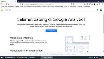 Cara daftar google analytics untuk youtube