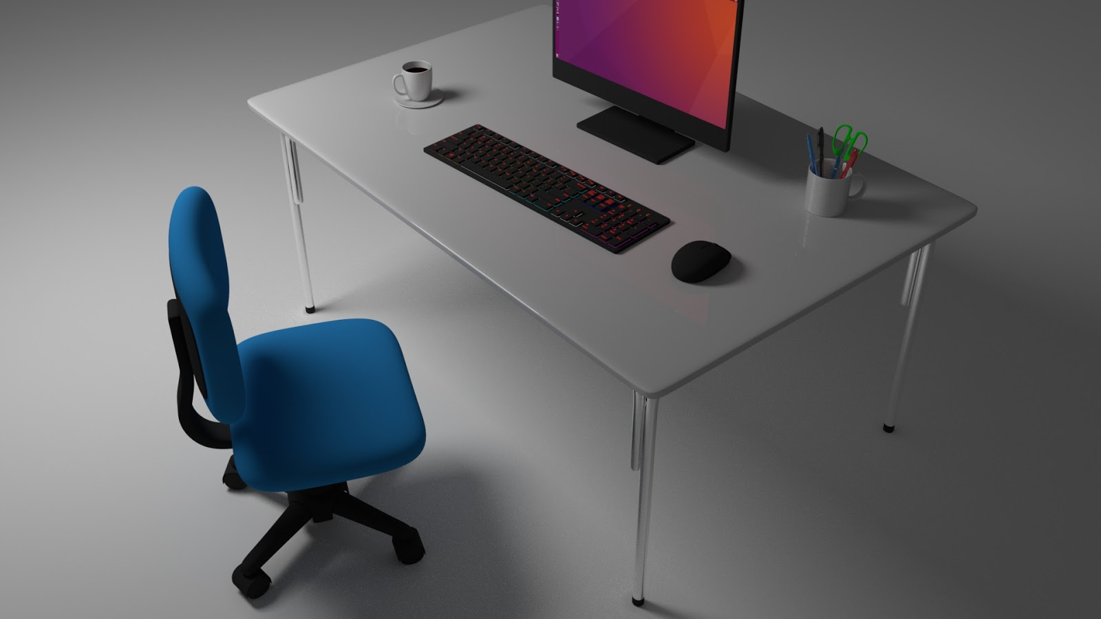 Free 3D Office Table .blend file