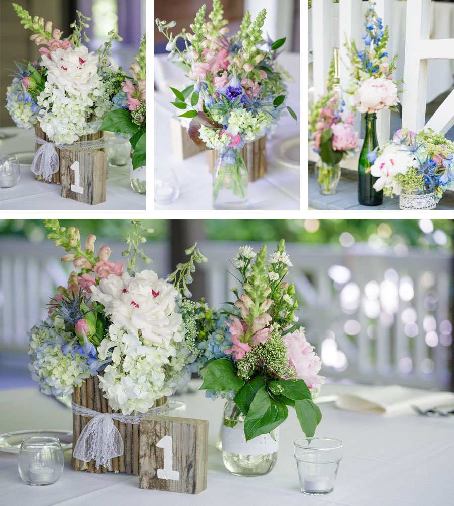 Vintage Flower Arrangements For Wedding: Rae By Day: Vintage Woodland Wedding: Flowers